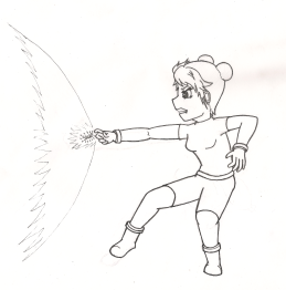 A yet unnamed character who can manipulate sound waves